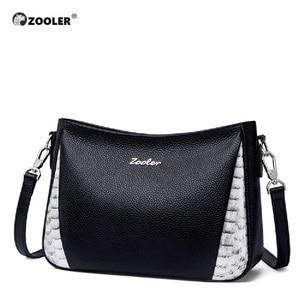 Image 3 - ZOOLER Cow leather Women Crossbody Bag Shoulder Bags Office Black Purse Lady Female Messenger Bag Women Present Gift #lt292