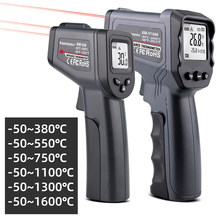 Cyfrowy termometr na podczerwień pojedynczy/podwójny termometr laserowy bezdotykowy czujnik temperatury obiektu czujnik narzędzia pomiarowe