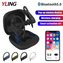 B10 TWS Wireless Bluetooth Headset Mini 3D Stereo Gaming Sports In-ear Hanging Earplugs Bluetooth 5.0 Waterproof with Microphone