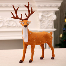 Christmas Decor Ornament Deer Decorations X-mas Plastic New Years For Home Large