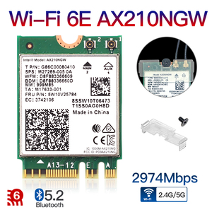 2400 Мбит/с Wi-Fi 6 AX210 NGFF M.2 Wi-Fi карты Bluetooth 5,2 Wi-Fi 6E Беспроводной сетевой адаптер 2,4 ГГц/5G 802.11AX для Windows 10 Linux