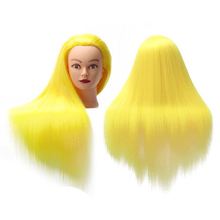 Yaki Synthetic Hair Training Head Mannequin Model Fiber Hairdressing Doll Barber Hairstyles Practce