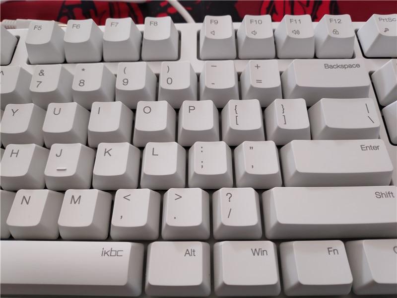 Ikbc c104 teclado mecânico grosso pbt keycap
