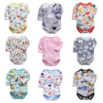 Noworodek body niemowlęce bebes ubrania z długim rękawem bawełna z nadrukiem odzież niemowlęca 1 szt 0-24 miesięcy tanie i dobre opinie tender Babies COTTON Moda CH001 Zwierząt Dla dzieci O-neck Unisex Pełna Pasuje prawda na wymiar weź swój normalny rozmiar