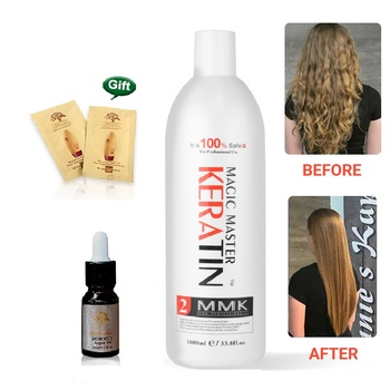 1000ml Magic Master Keratin Treatment Without Formalin Straighten Frizzy Smoothing Shine Hair MMK Keratin 300ml mmk magic master keratin without formalin purifying shampoo straighten hair set get free comb