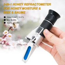 3-in-1 Honig Plus-refraktometer für Imker bee Honig Feuchtigkeit & Brix & Baumes Bienenzucht Honig Refraktometer Wasser inhalt Meter