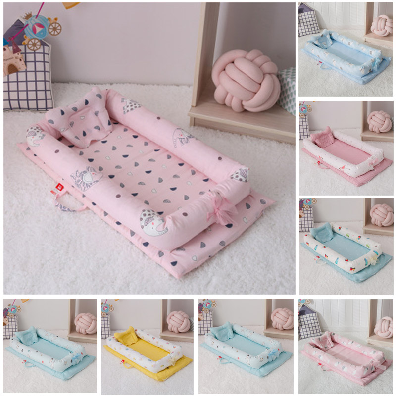 Baby Bionic Bed Removable And Washable Baby Travel Bed Portable Baby Crib Foldable Sleeper Baby Nest For Newborn Bed Bumper