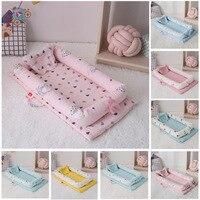 Bebê biônico cama removível e lavável cama de viagem do bebê portátil berço do bebê dobrável sono ninho do bebê para recém-nascido cama pára-choques