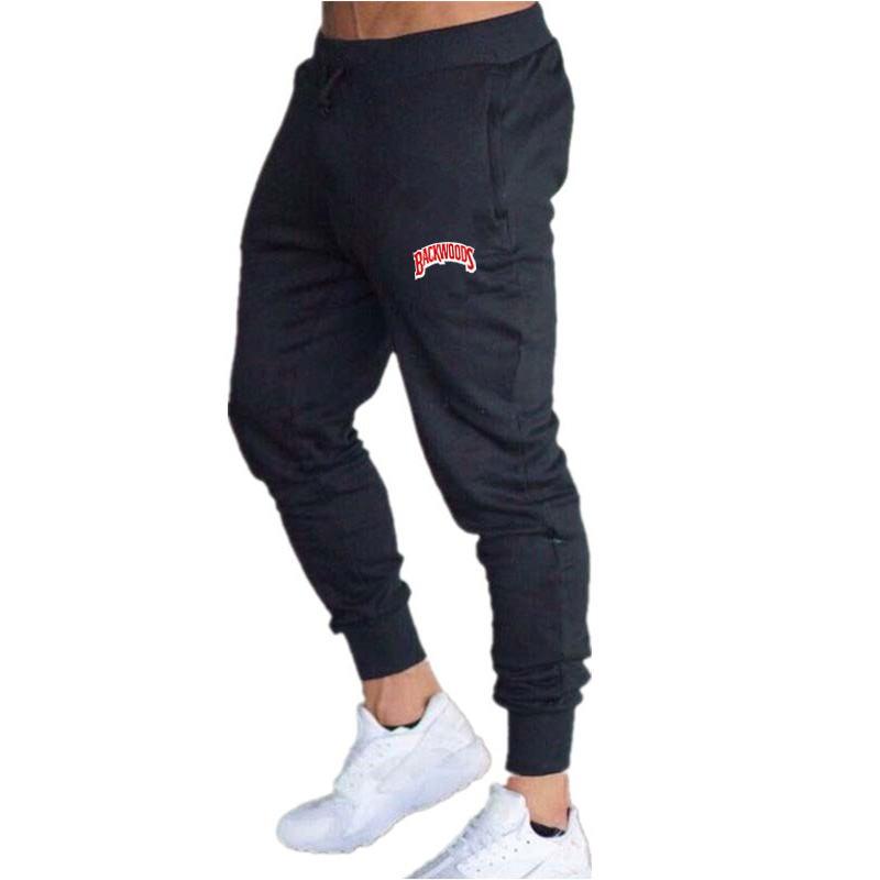 2020 Latest Mens Pants Cotton Summer Gray Casual Funny Backwoods Printed Men Joggers Sweatpants Plus Size Black Trouser Pantalon