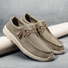Coslony shoes for Men Ultralight Canvas Shoes Espadrilles Casual Shoes Men Loafers Comfortable Lazy Boat Shoes big Size 47 48