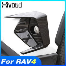 For Toyota Rav4 2020 2021 Accessories Car Front Fog Lamp Frame Cover Auto Exterior Decoration Light Strip ABS Car Parts Styling