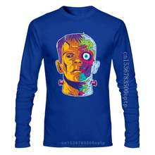 Psychedelic Frankenstein - Funny Halloween WomenS T-Shirt Vintage Graphic Tee Shirt