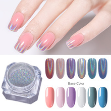 1 Box Laser Nail Glitter Peacock Holographic Mirror Powder Dust Art Chrome Pigment DIY Decorations