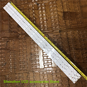 "Image 3 - 9 ชิ้น/ล็อต 32 ""Universal Light Bar10 3Vความยาว 57 ซม.LED Backlightบาร์อลูมิเนียมDLED32DH3101005.B 100% ใหม่"