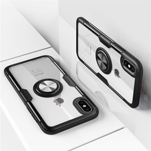 Luxury Acrylic Silicone Case For iPhone X XS Max XR 7 8 6 6S