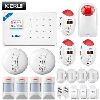 Система сигнализации для домашнего хоста KERUI W18 WIFI Беспроводная GSM система сигнализации приложение дистанционное управление домашняя систе