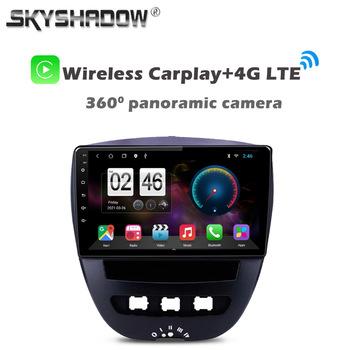 360 panoramiczny aparat 6G + 128G Android 10 samochodowy odtwarzacz DVD odtwarzacz GPS wi-fi Bluetooth Radio dla Peugeot 107 Citroen C1 Toyota Aygo 2005-2014 tanie i dobre opinie SKYSHADOW CN (pochodzenie) podwójne złącze DIN 4*45W System operacyjny Android 10 0 DVD-R RW DVD-RAM VIDEO CD JPEG Plastic Steel