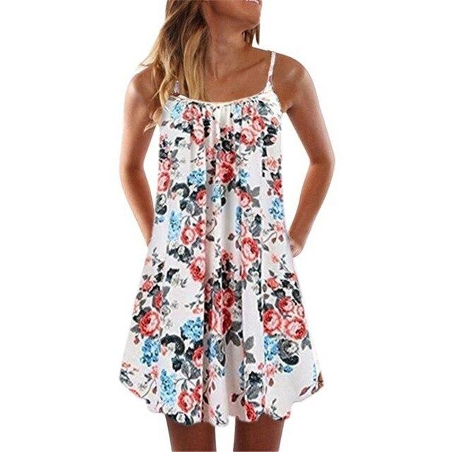 Loose Beach Dress With Spaghetti Straps 4