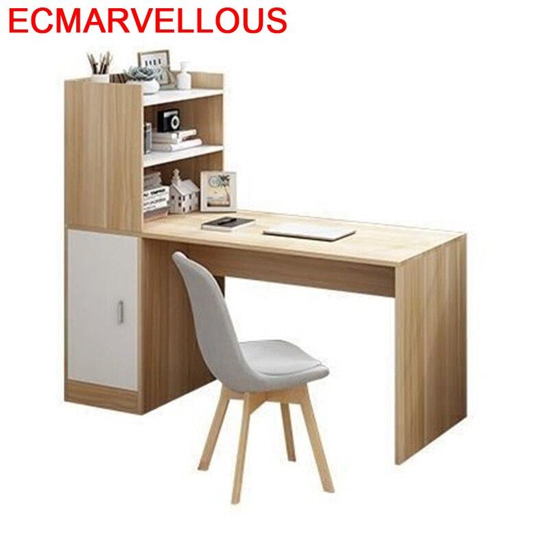 Scrivania Ufficio Standing Biurko Mueble Escrivaninha Stand Escritorio Desk Laptop Computer Tablo Mesa Table With Bookshelf