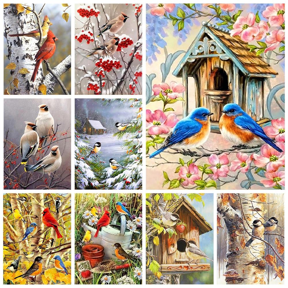Diamond Painting Bird 5D DIY Custom Full Square/round Drill Embroidery Home Decor Mosaic Cross Stitch Kit Handicrafts Mural Gift