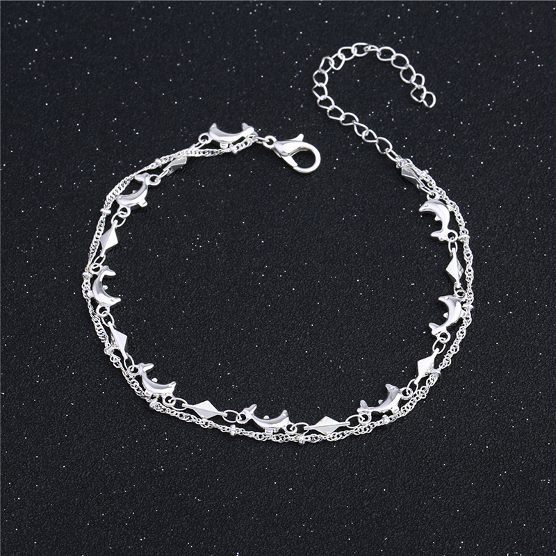Cute Dolphin Charm 925 Sterling Silver Anklets For Women Ankle Bracelet On The Leg Anklet Silver Foot Jewelry Accessories CB120