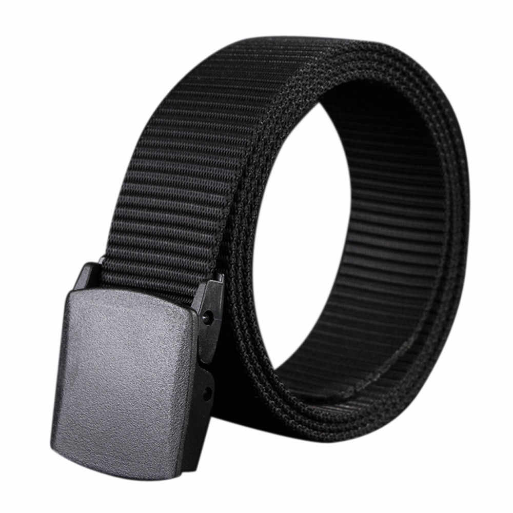 Automatic Buckle Men Canvas Belt Magnetic Elastic Tactical Belts For Male Nylon Outdoor Training Waistband Women Strap Belts