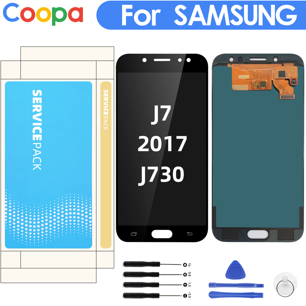 5.5'' Display For SAMSUNG Galaxy J7 Pro 2017 J730 J730F LCD Display With Touch Screen Digitizer Assembly Brightness Control