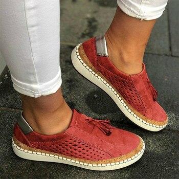 Женская повседневная обувь, белые туфли на плоской подошве, большие размеры, осень 2020
