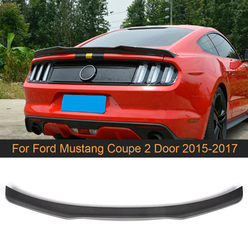 Carbon Fiber Rear Trunk Spoiler Wing for Ford Mustang Coupe 2 Door 2015 2016 2017 Trunk Spoiler Boot Lip Wing Black FRP