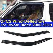 2PCS Car Window Wind Deflectors Tinted For Toyota Hiace 2005 2006 2007 2008 2009 2010 2011 2012-2019 Window Visor Vent Sun Rain