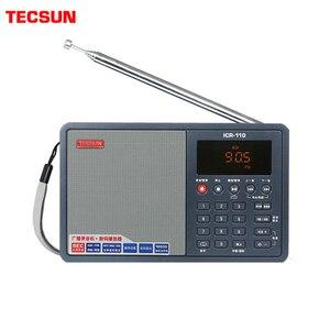 Image 1 - Tecsun ICR 110 радио FM/AM MP3 плеер Диктофон для пожилых людей цифровой аудио переносной полупроводник звуковая коробка Поддержка TF карта бесплатная доставка