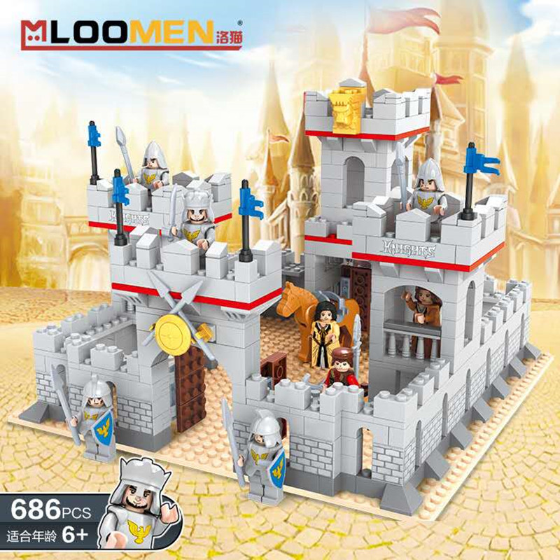 Ancient Military War Roman Empire <font><b>Medieval</b></font> Lion King <font><b>Castle</b></font> Building Blocks Children DIY Educational Toy for Boy birthday gifts image
