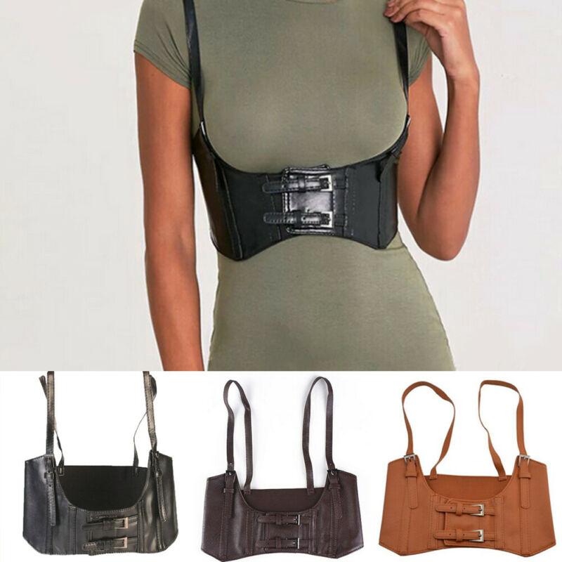 Vintage Women's Cummerbunds 2019 Newest Fashion Steampunk Corset Vest Harness Vest With Buckle Cosplay Accessory