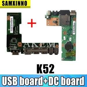 Для For Asus K52 K52J K52JR K52JC K52DR X52F K52F X52J разъем питания постоянного тока аудио Плата 60-NXMDC1000 100% тестирование Быстрая доставка