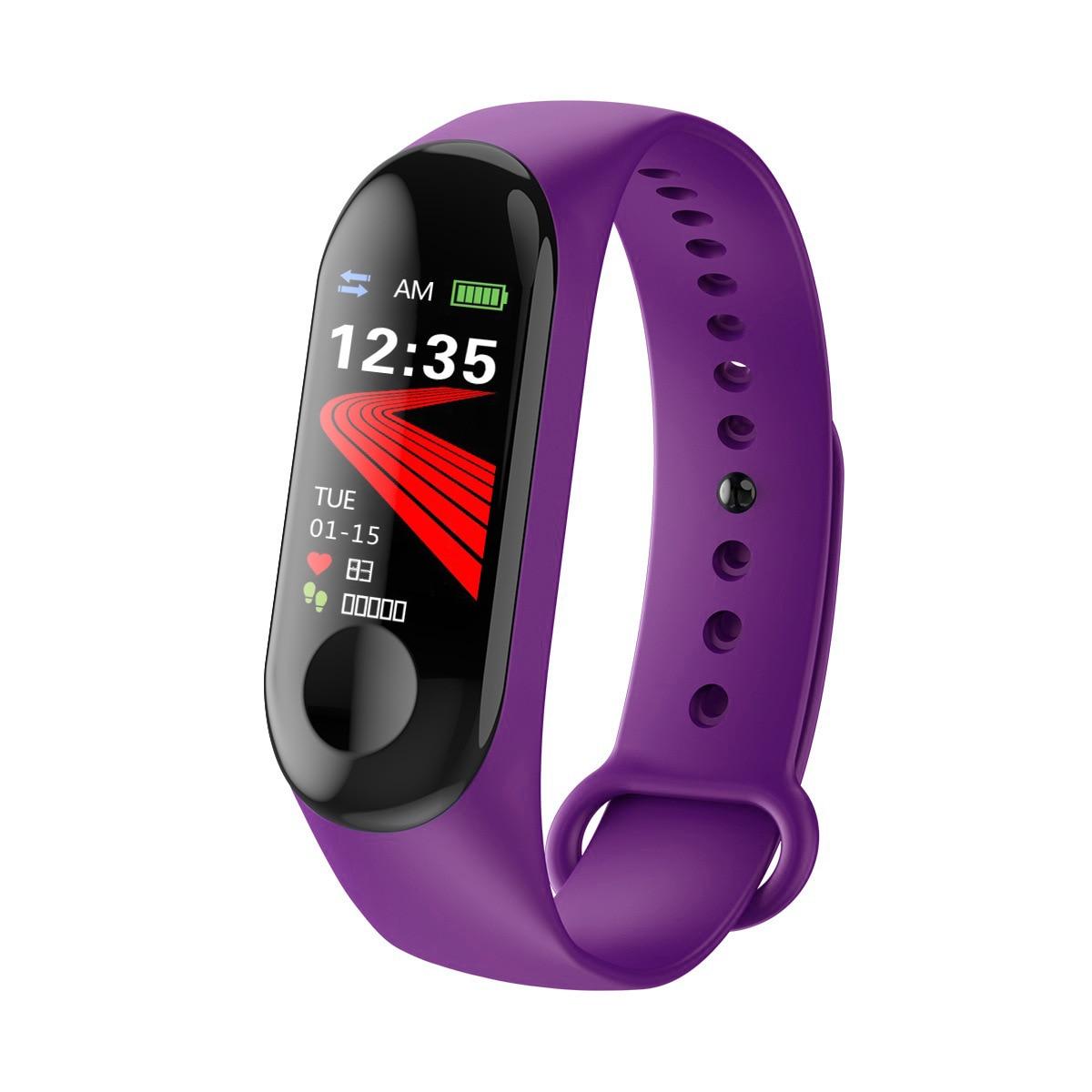 M3 Bluetooth Calling Color Screen Smart Bracelet Heart Rate Blood Pressure Monitoring Step Count Sports Bracelet Manufacturers D