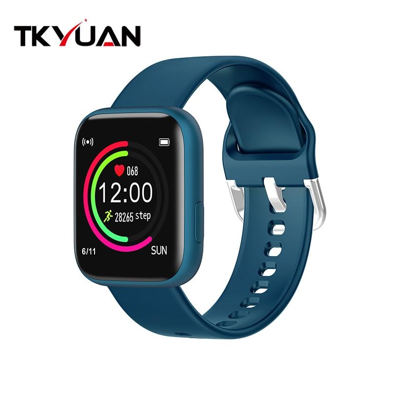 Smart watch sports TKYUAN P4, water resistant, control, sleep, heart rate Blue