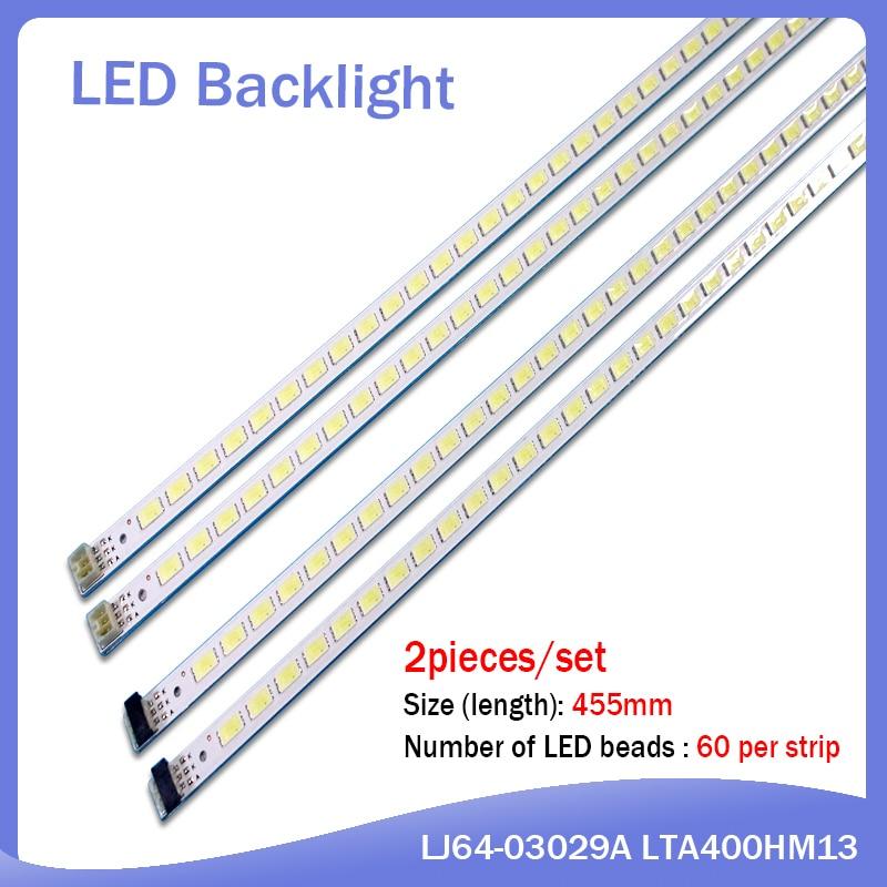 10pcs X 40 Inch LED Backlight Strip For 40'' TV L40F3200B LJ64-03029A LTA400HM13 40INCH-L1S-60 G1GE-400SM0-R6 60-LEDs 455mm
