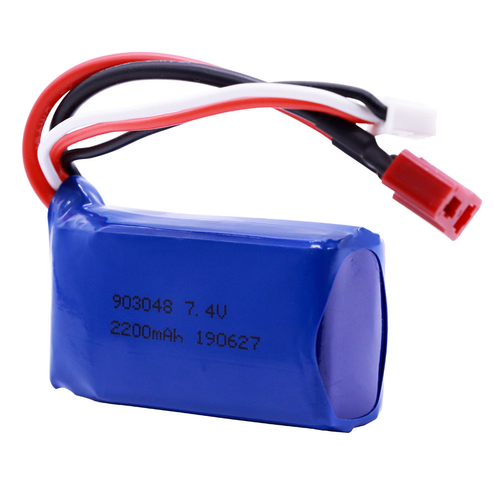 7.4V 2200mAh 903048 2S Lipo Battery For WLtoys A959-B A969-B A979-B K929-B RC Toys Truck Car Helicopter Boats Accessories
