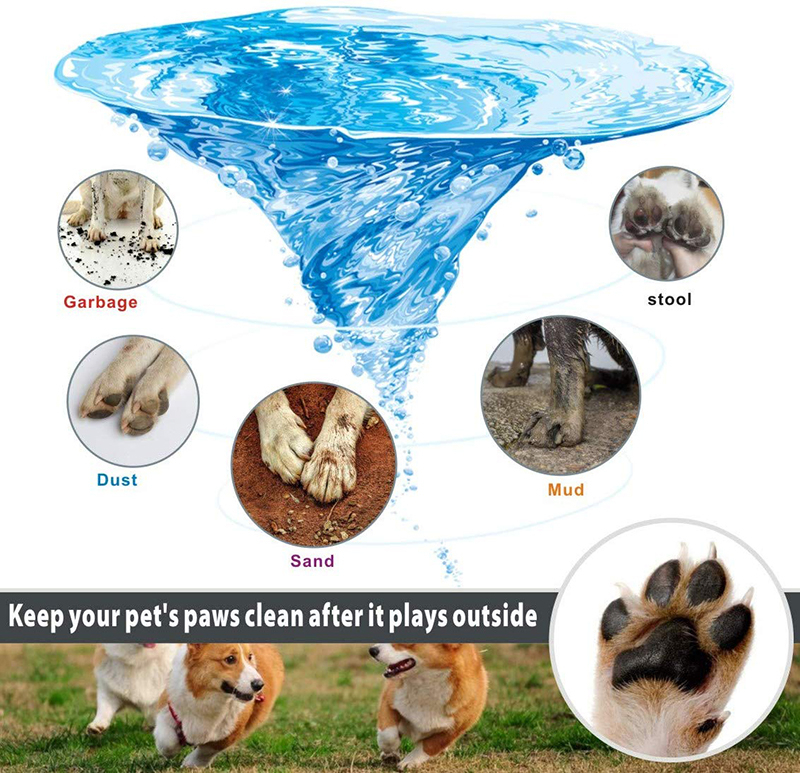 Benepaw Dog Paw Cleaner Shower Brush 2 In 1 Portable Soft Silicone Pet Foot Washer Effectively