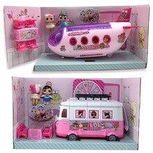 Original lol surpresa bonecas brinquedos avião omg figuras carros originais casa de boneca fingir jogar brinquedo da menina natal surpresas presente