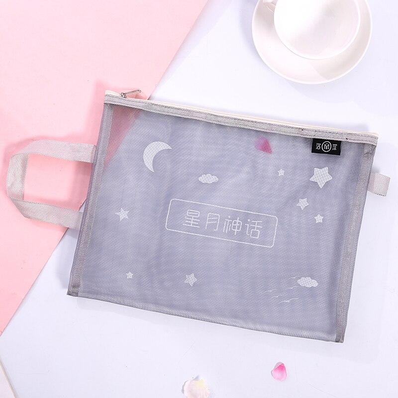 Loveот 1 шт./партия милая сумка для хранения Стильный Простой A4 сумка для файлов сетка прозрачная сумка типа тоут Канцтовары офисный школьный поставка - Цвет: 4