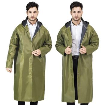 Waterproof Nylon Raincoat Jacket Pants Travel Raincoat Hiking Green Waterproof Stylish Chubasquero Hombre Rain Poncho JJ60YY