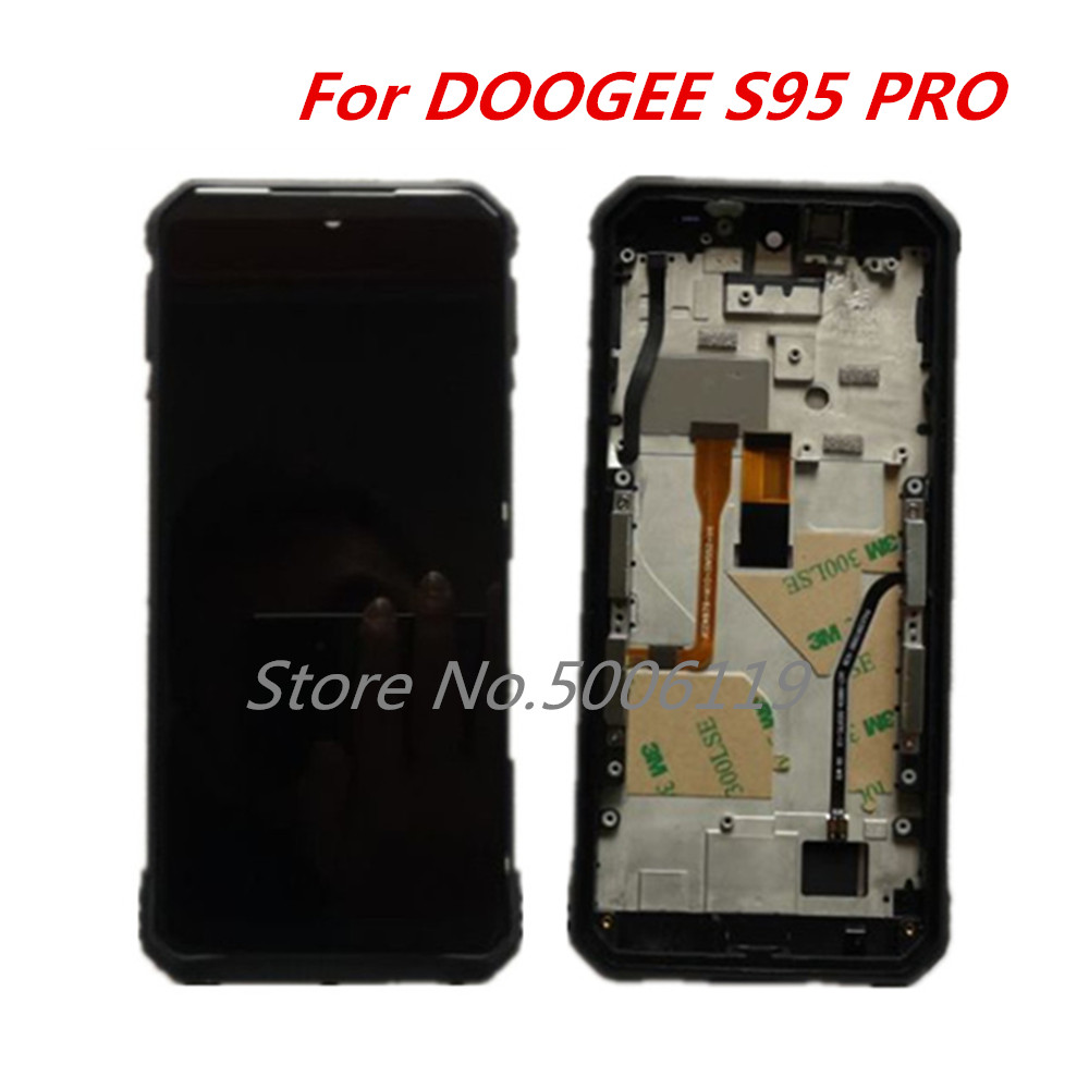 Original For DOOGEE S95 Pro 6.3inch 1080x2160 LCD Display With Frame+ Touch Screen Digitizer Assembly Replacement Glass(China)