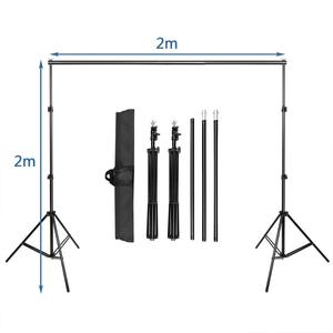 Image 2 - ZUOCHEN Photo Studio Adjustable Backdrop Support Stand Kit 1.6 x 3m Black/White / Green/Gray Backdrop Screen