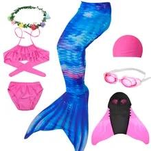 Adult Mermaid Tail  Monofin Kids Girls Training Flipper Swimming Party Costume