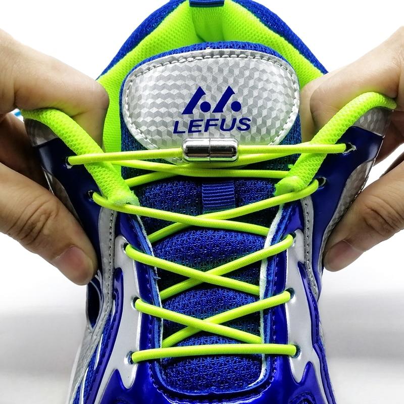 1Pair Elastic Locking Shoelaces No Tie Round Shoe Laces Kids Adult Quick Shoelace Shoe Laces Strings N123