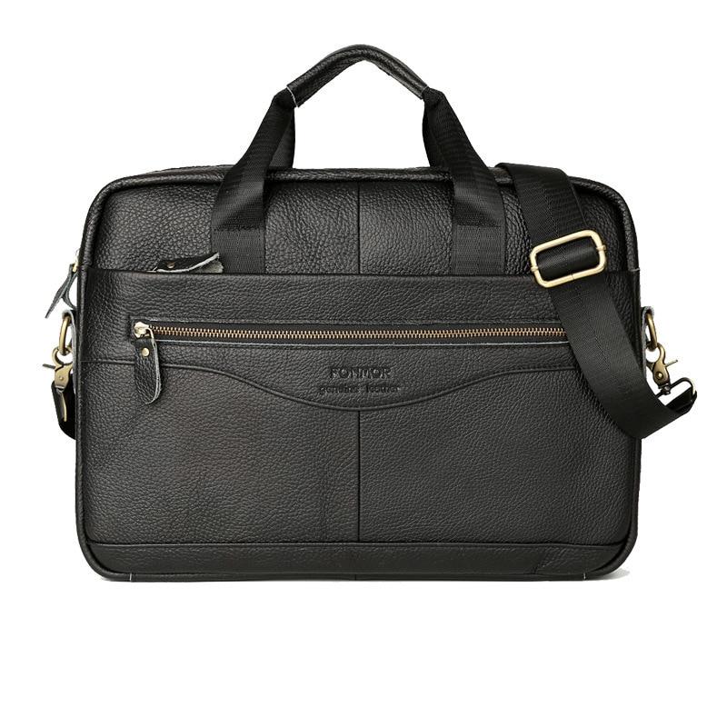 Men Briefcases Genuine Leather Handbag 15