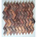 Popular fashion style cheap factory price arrow shiped copper metal mosaic tile for kitchen backsplash decoration