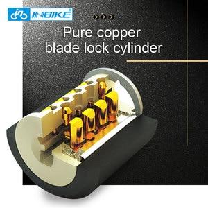 Image 3 - INBIKE велосипед замок 0,85 м Водонепроницаемый Anti theft Cable Lock Высокое качество MTB велосипеда замки с 3 Ключи CB106