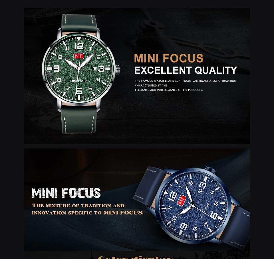 Hedef6a3c7b794239abbd809fcd804e68M MINI FOCUS Luxury Brand Men's Wristwatch Quartz Wrist Watch Men Waterproof Brown Leather Strap Fashion Watches Relogio Masculino